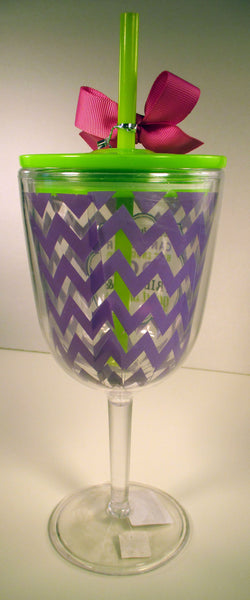 Two Things Acrylic Wine Glass