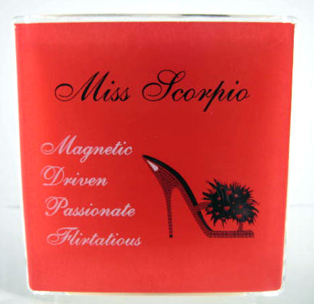 scorpio astrology sign candles with shoes. gifts for shoe lovers