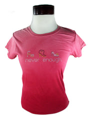 Never Enough Stilettos T-Shirt Red Dip Dye