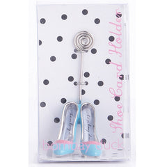 Aqua Stiletto Card Holder