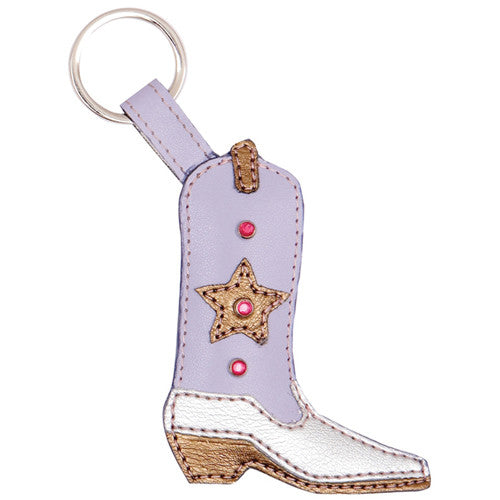 Cowboy boot keychain. Gifts for shoe lovers.