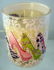 Filled Jude Candle with Colorful Stilettos