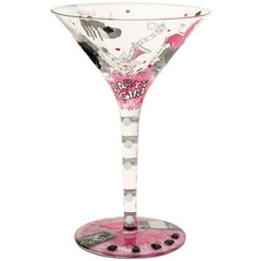 Martini glass with high heel stiletto shoes. Gifts for shoe lovers.