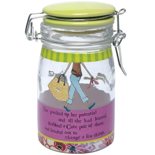 Doodad jar for shoe lovers. Gifts for shoe lovers.