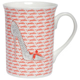 Mug with high heel shoes. Coffee mug gifts for shoe lovers.