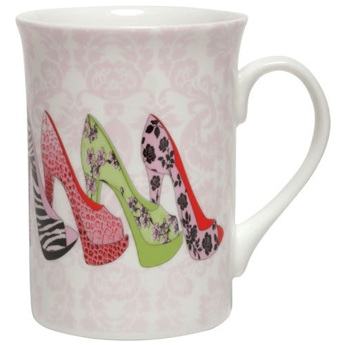 Mug with stiletto shoes. Mugs with shoes gifts for shoe lovers.