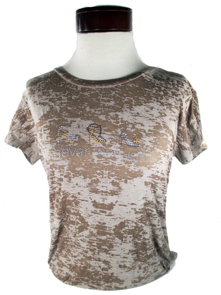 Never Enough Stilettos T-Shirt Brown Burnout
