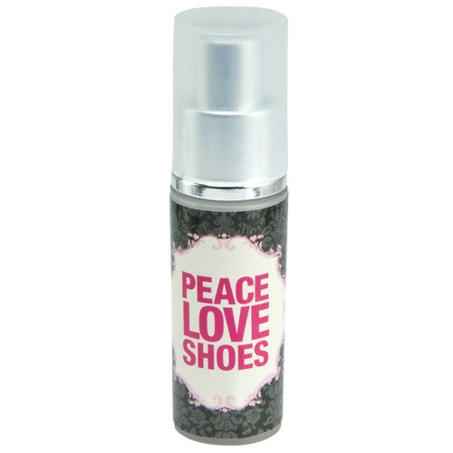 Pocket hand sanitizer with Peace, Love, shoes, Hand sanitizers for shoe lovers.