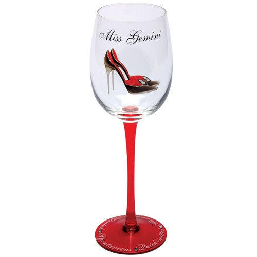Miss Gemini Wine Glass