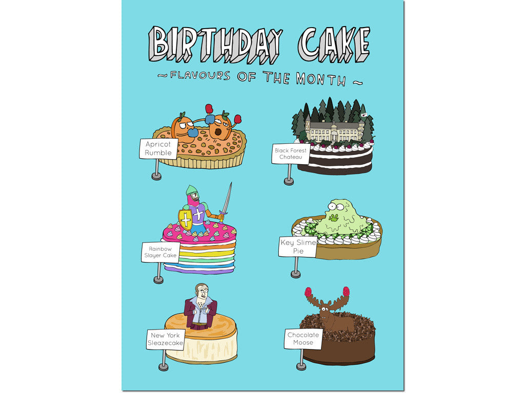 BIRTHDAY CAKES CARD Hello Lemon