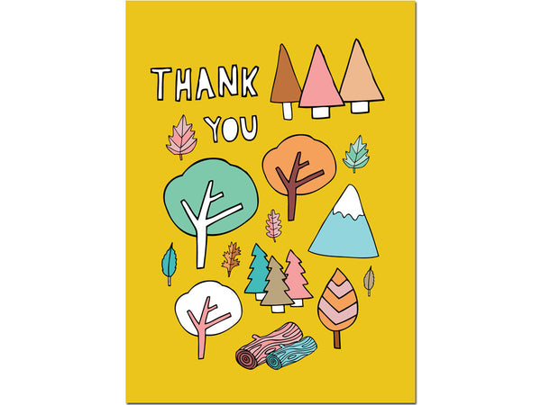 THANK YOU WOODLAND CARD
