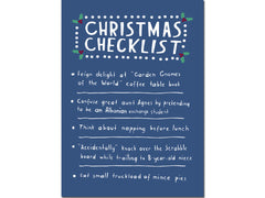 CHRISTMAS CHECKLIST CARD