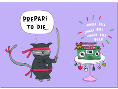 NINJA CAT CHRISTMAS CARD