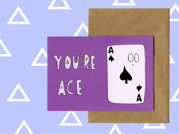 Love friendship card - You're Ace