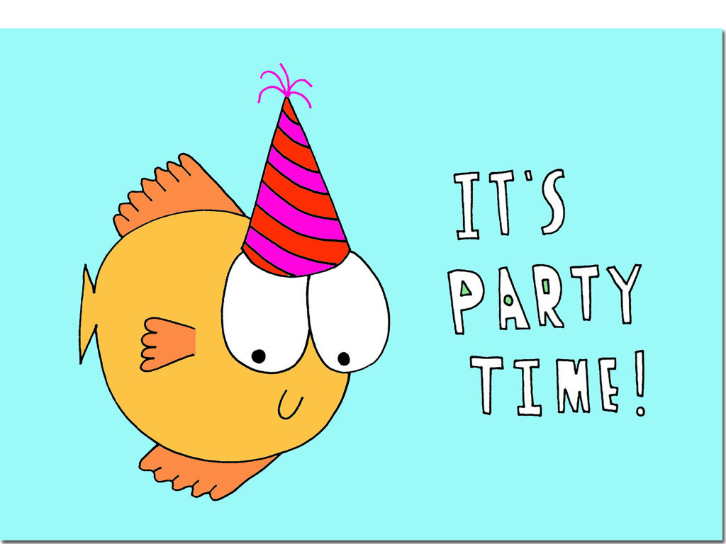 it s party time card hello lemon awesome greeting cards