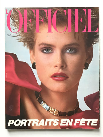 L'Officiel Paris Decembre 1983 Tony Viramontes