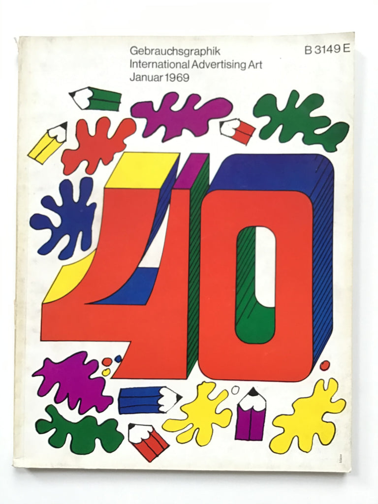 Gebrauchsgraphik magazine on International Advertising Art January 1969