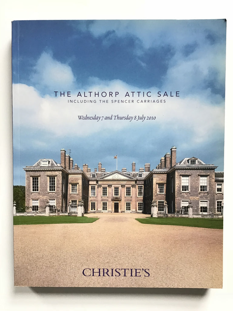 The Althorp Attic Sale Including the Spencer Carriages