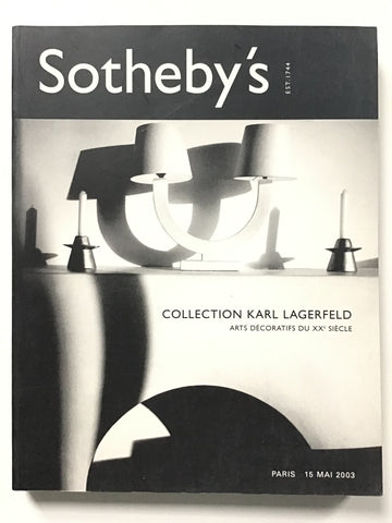 Collection Karl Lagerfeld Arts Decoratifs du XXe Siecle