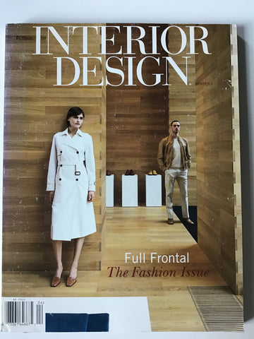 Interior Design magazine April 2001 fashion issue