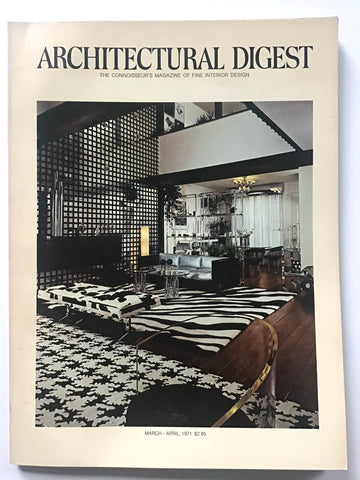 Architectural Digest March April 1971 helena rubinstein offices