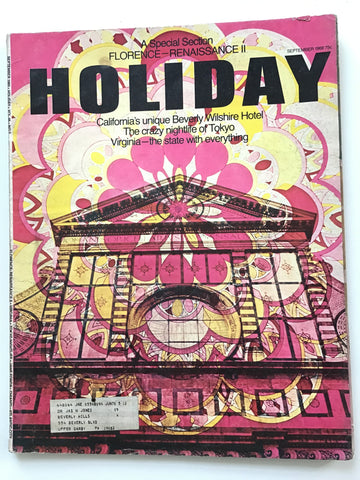Holiday magazine September 1969 Beverly Wilshire Hotel Emilio Pucci