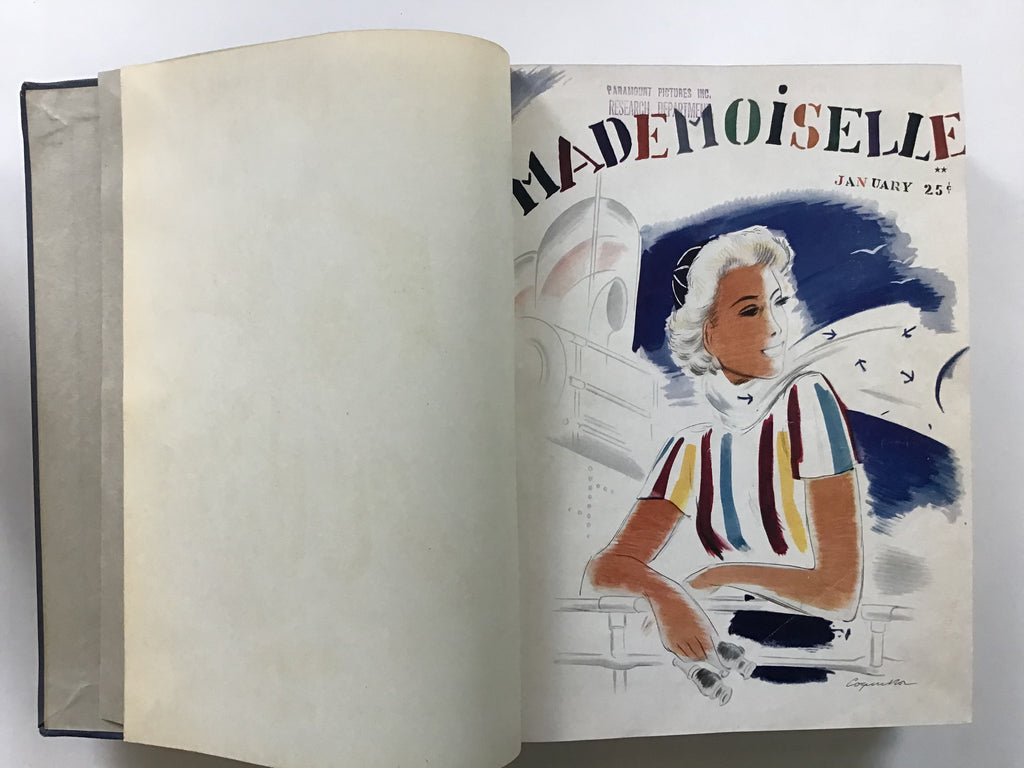 Bound volume of Mademoiselle magazine, 1937