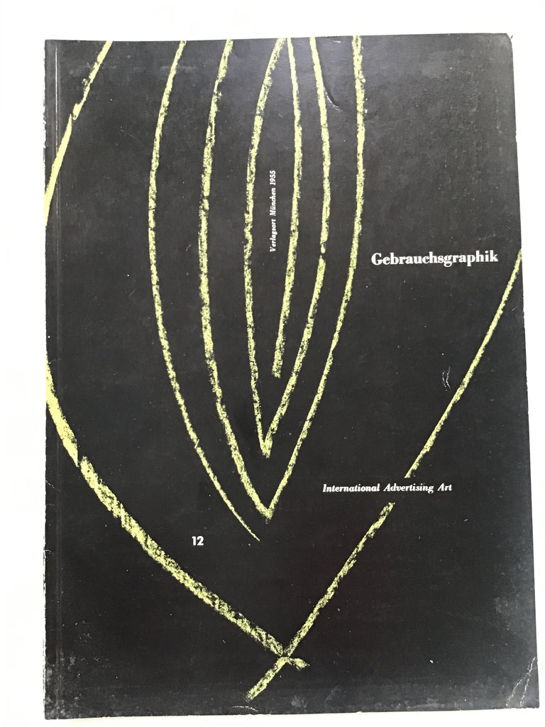 Gebrauchsgraphik magazine on International Advertising Art  12 /1955