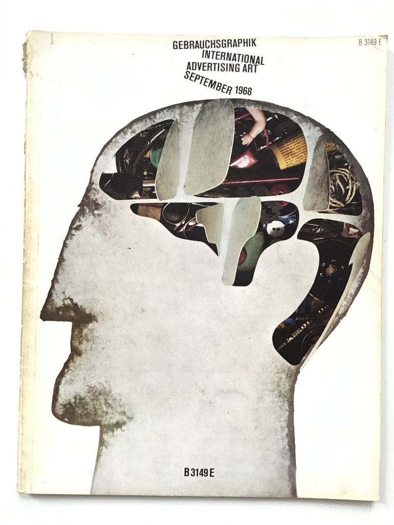 Gebrauchsgraphik magazine on International Advertising Art September 1968