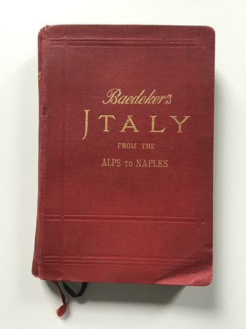 Baedeker's Italy -- From the Alps to Naples 1907