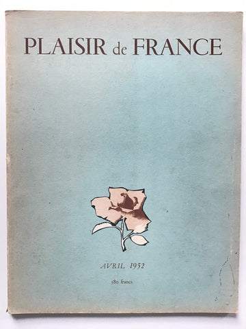 Plaisir de France Avril 1952