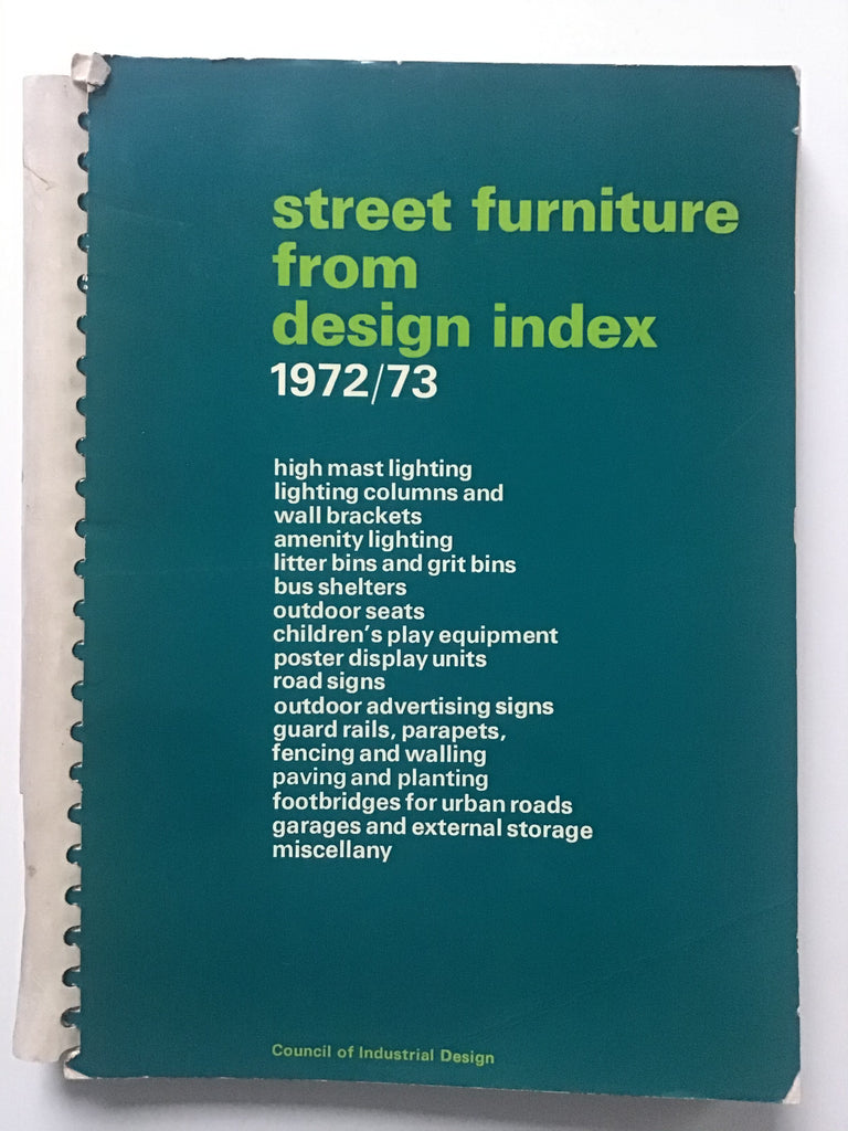 Street Furniture from Design Index 1972/73