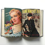 Mademoiselle magazine bound, July-August- September- October- November- December 1939