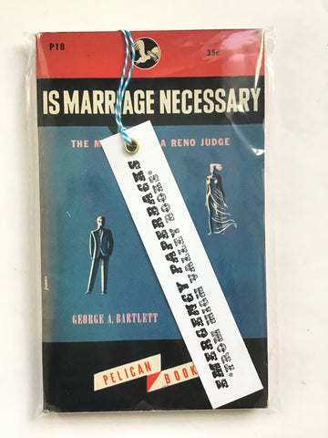 Is Marriage Necessary?