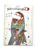 Gebrauchsgraphik magazine on International Advertising Art  1955 richard lindner cover