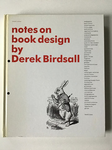 Notes on Book Design by Derek Birdsall