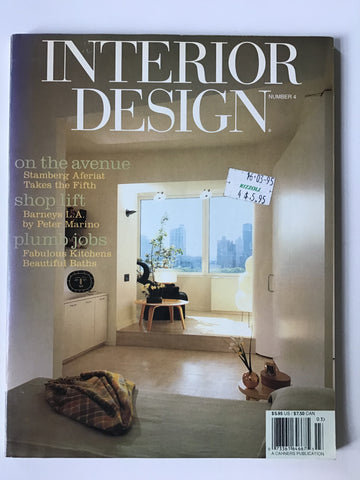 Interior Design March 1995 Peter MArino Barney's L. A.