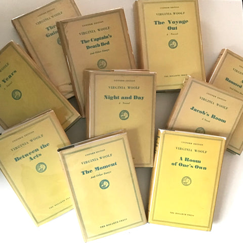 Collection of volumes from the Uniform Edition of Virginia Woolf, late 'forties, early 'fifties