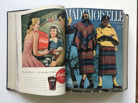 Mademoiselle magazine bound, July-August- September- October- November- December 1948