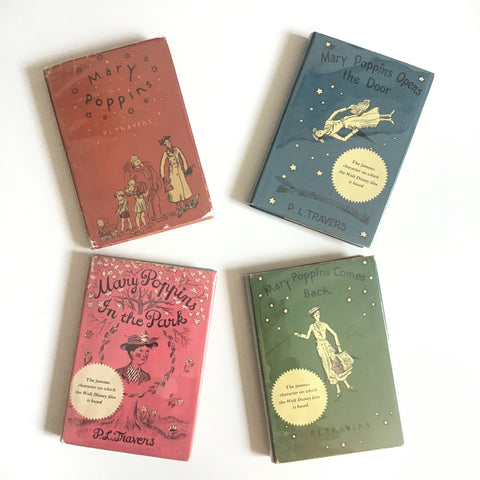 Four Mary Poppins books / older editions
