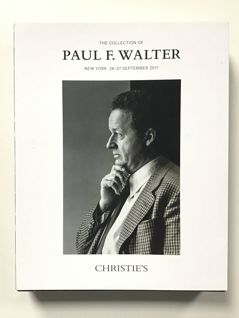 The Collection of Paul F. Walter New York: Christie's, 26-27 September 2017. Large softcover with stiff removable  covers. $85.