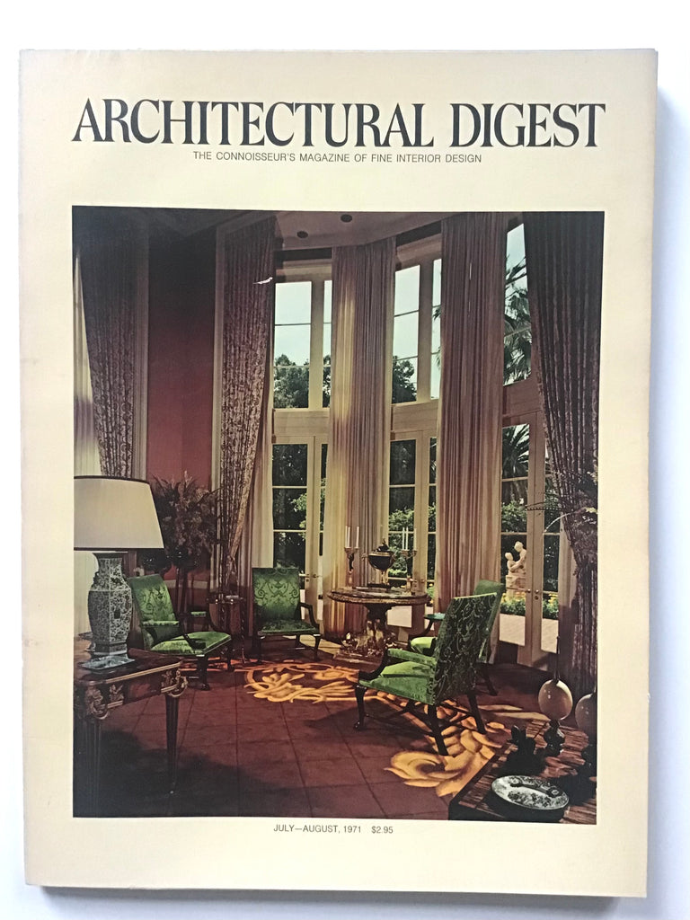 Architectural Digest July / August 1971