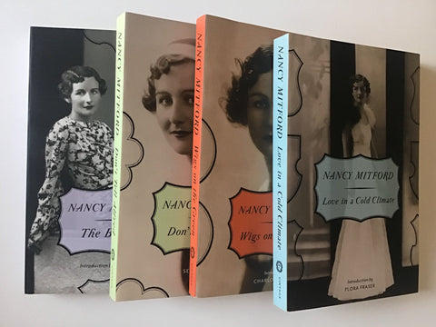 Four paperbacks by Nancy Mitford