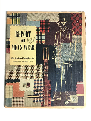 Report on Men's Wear March 30, 1952