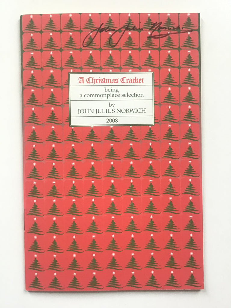 A Christmas Cracker 2008 signed by John Julius Norwich
