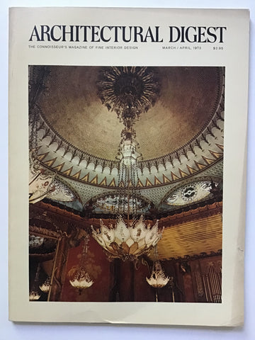 Architectural Digest March/April 1973 valerian rybar