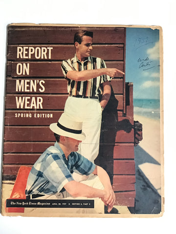 Report on Men's Wear April 28, 1957