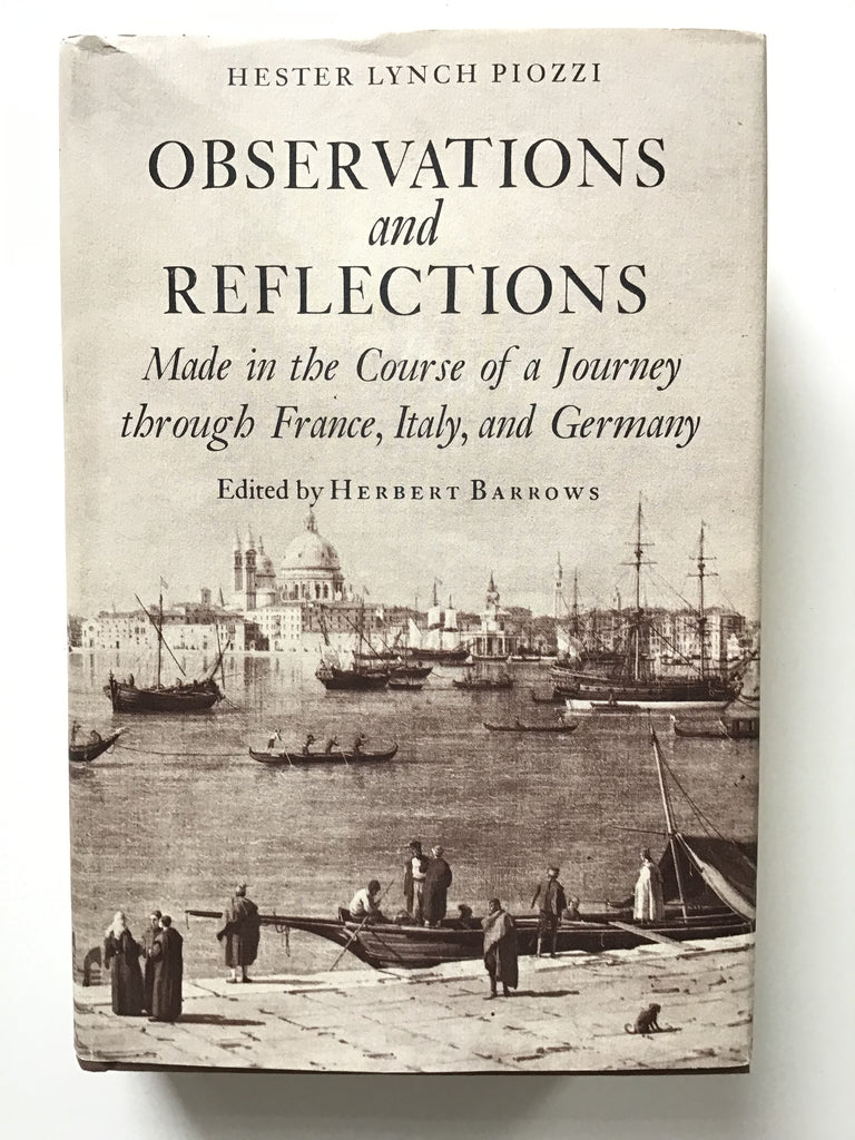 Observations and Reflections