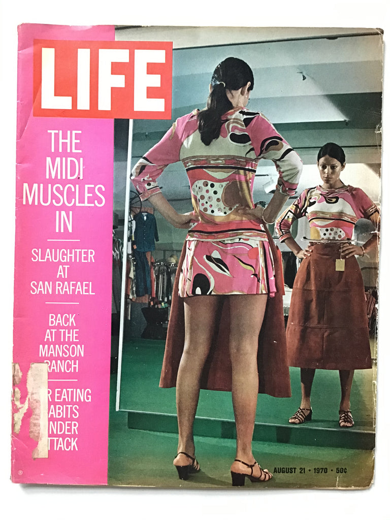 Life magazine emilio pucci august 21 1970 manson family ranch