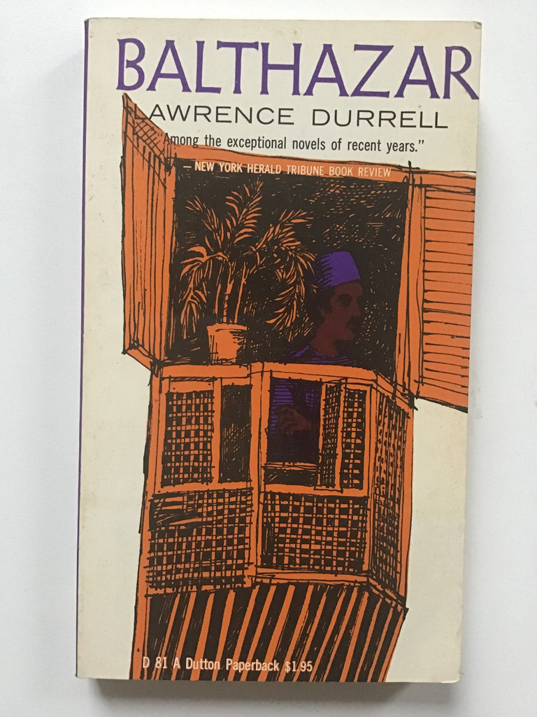 Attractive old paperback, in very good condition. A volume in Lawrence Durrell's four part Alexandria Quartet.   This is one of High Valley Books suggested Emergency Paperbacks...which come in a protective plastic sleeve (and with one of our  homemade bookmarks), to be kept in the handbag or man-purse for those moments when a Book is Needed.